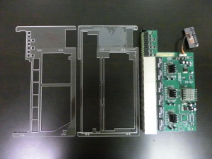 Router Card - Parts Assembled